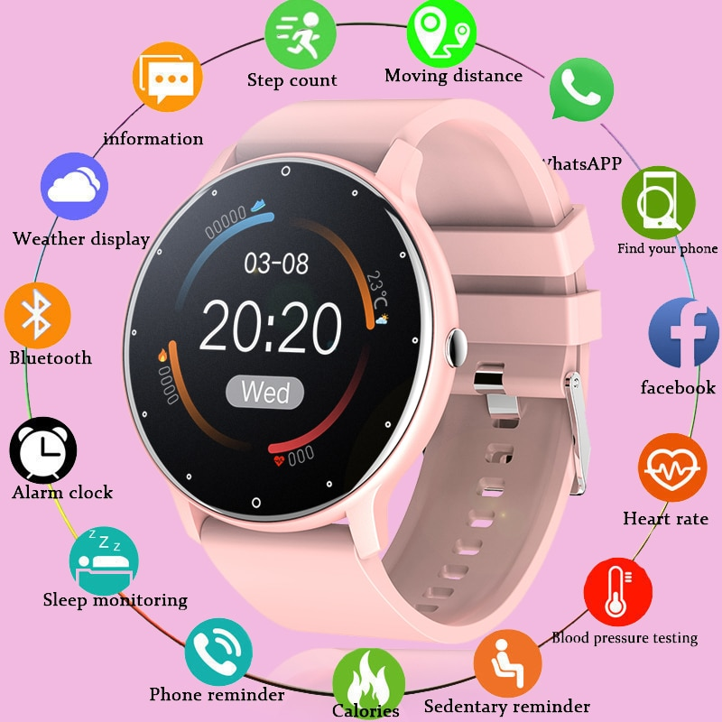LIGE 2021 Fashion Smart Watch Ladies Heart Rate Blood Pressure Multifunctional Sport Watch Men Woman