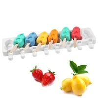 8 cavity small silicone ice cream mold 2 love shape diy homemade popsicle moulds dessert ice pop lolly maker reusable tools