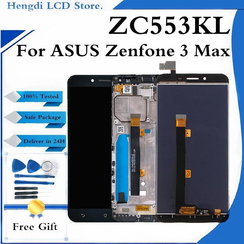 لاسوس Zenfone 3 ماكس ZC553KL شاشة LCD تعمل باللمس لوحة الشاشة مع الإطار لاسوس Zenfone 3 ماكس zc553kl شاشات الكريستال السائل
