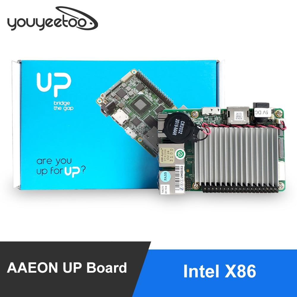 AAEON UP Board Inter 4 Гб RAM + 32 ГБ EMMC Совместимость с большинством Raspberry Pi HAT Intel X86 Поддержка Linux, Android Windows 10