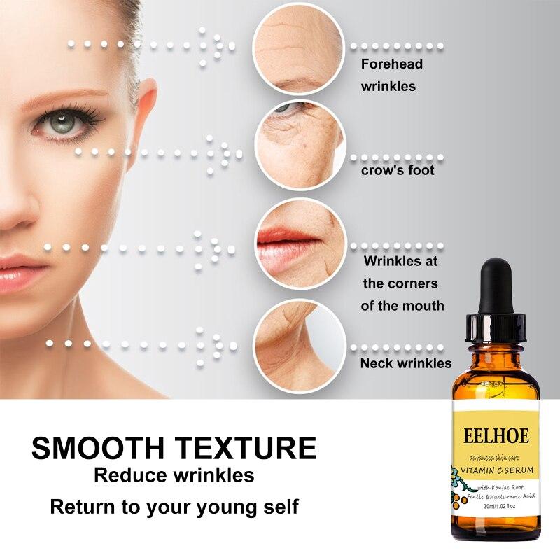 30Ml Vitamin C Facial Serum Anti-Aging Pores Shrink Whitening Moisturizing Cream Dry Skin Care