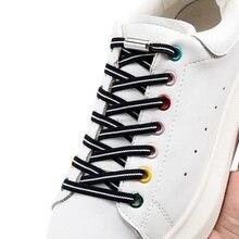 Lacci piatti senza lacci lacci bianchi neri per scarpe da ginnastica lacci elastici senza lacci bambini adulti pizzo rapido per scarpe elastico