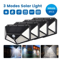SUNYIMA 4 Pcs Solar Wall Lamp PIR Motion Sensor 100LED Solar Power Light Waterproof Solar Lamp for Yard Garland Light Decoration