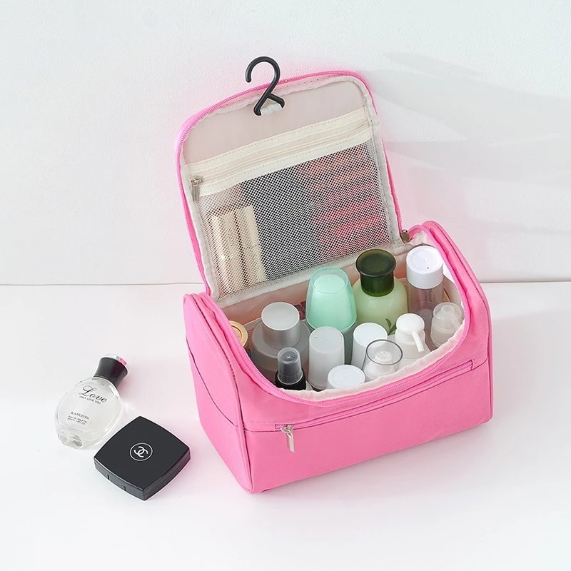 anging Cosmetic Bag Business Makeup Case Women Travel Make Up Zipper Organizer Storage Pouch Toiletry Wash Bath Kit transparent waterproof travel cosmetic bag women zipper makeup case men make up organizer storage pouch toiletry wash bath kit