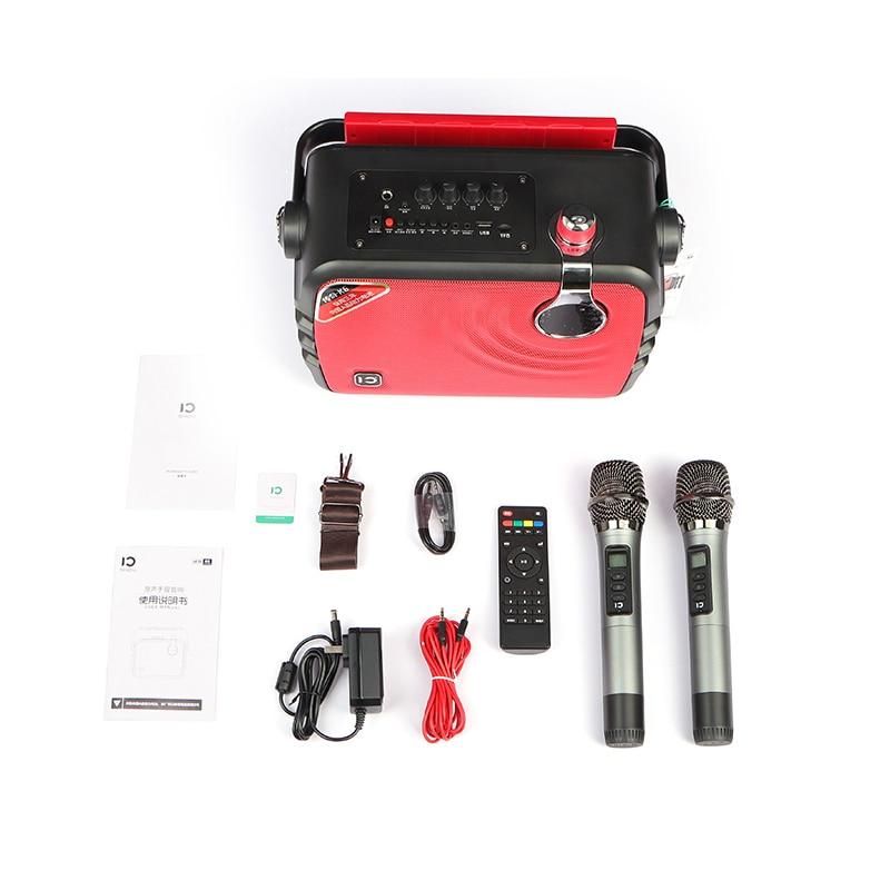 SHIDU  new  speaker  70 Watt Output pa System Subwoofer  with UHF  wireless microphone  Karaoke Speaker enlarge