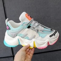 fashion summer womens shoes chunky sneakers mixed colors ladies casual shoes platform sneakers women shoes female