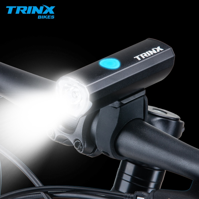 Trinx LED Luz de bicicleta impermeable USB recargable 2000mAh MTB faro delantero de aluminio ultraligero linterna Luz de bicicleta