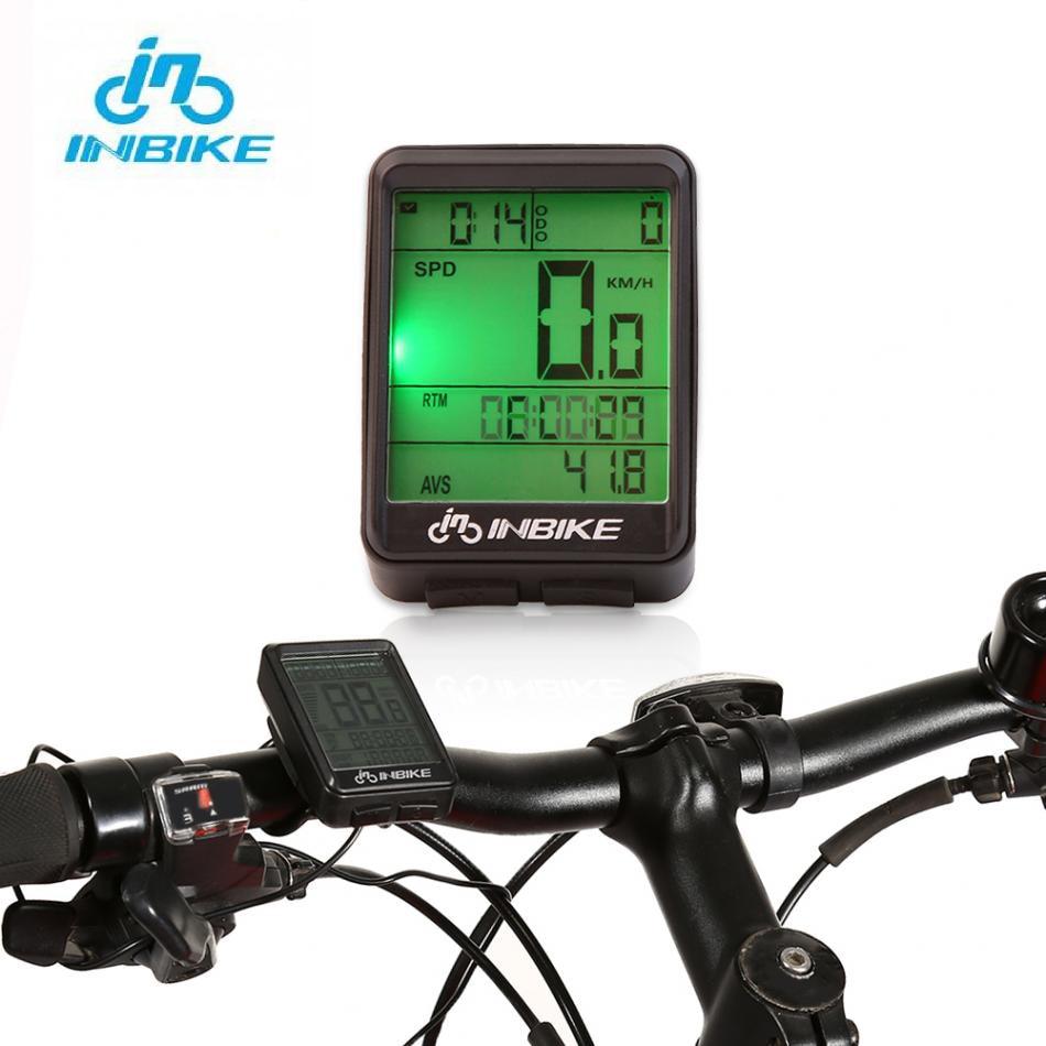 Inbike ciclismo computador com fio/sem fio bicicleta speedmeter backlight mountain road bicicleta odômetro display led cronômetro