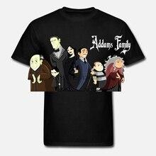 Bllto, camiseta genérica negra de algodón para hombres, Addams, camiseta Anime familiar