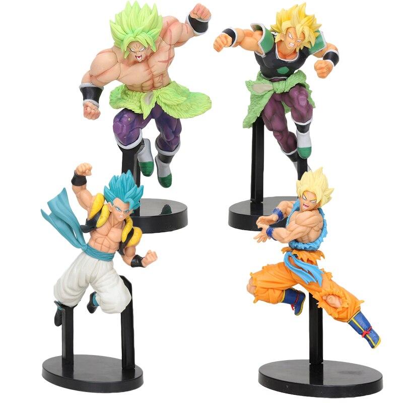 20 centímetros Dragon Ball Super Saiyan Broly Z Brolly Batalha Batalha Figura Super Saiyan Goku Gogeta PVC Figuras de Ação brinquedos