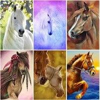 Peinture de diamant theme Animal  broderie 5D  fleurs  cheval  strass carres ou ronds  image brodee a la main  mosaique  decor de maison  cadeau