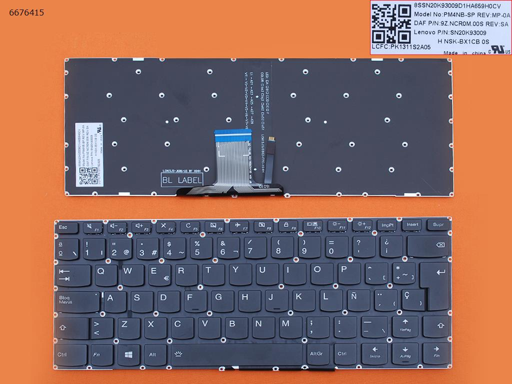 SP Spanish New Replacement Keyboard for Lenovo Ideapad 310s-14ast 310s-14isk 310s-14ikb 510s-14isk 510s-14ikb Laptop Backlit