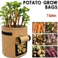 plant bag potato grow container bag diy planter pe cloth planting vegetable gardening thicken vegetable pot planting grow bag