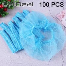 100 stücke Non-woven Einweg Dusche Caps Haar Netze Schönheit Salon Spa Kopf Abdeckung Hüte Mopp Hygiene Einweg Kappen haar Kappe