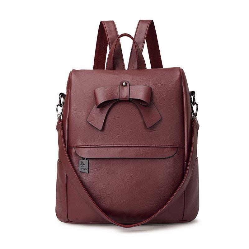 Женские кожаные рюкзаки высокого качества Sac A Dos школьные сумки для девочек дорожные сумки через плечо многофункциональные женские рюкзаки