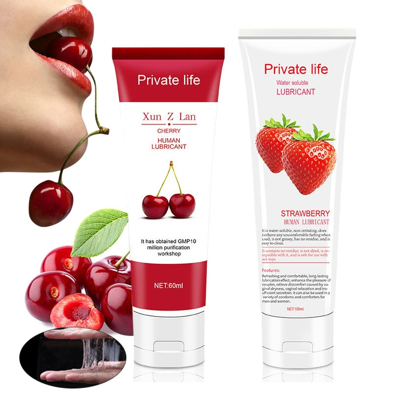 Lubricante de sabor a fruta para sexo Anal, aceite lubricante para sexo...