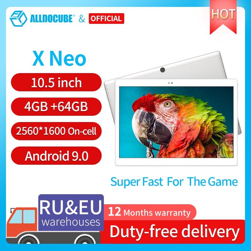 ALLDOCUBE X Neo Dual 4G LTE اللوحي أندرويد 9.0 سنابدراجون 660 4GB RAM 64GB ROM 10.5 بوصة سوبر Amoled شاشة 2.5k 2560 × 1600 IPS
