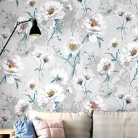 american rustic wall papers home decor vintage big flower wallpaper roll for living room bedroom decoration mural papel pintado