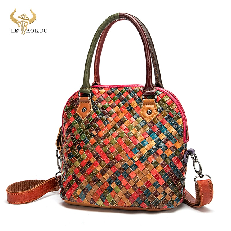 New Colorful Soft Leather Famous Luxury Patchwork Large Shopping Purse Handbag Shoulder Bag Women De
