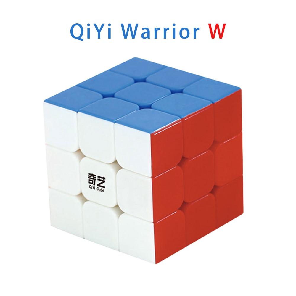 Qiyi Warrior W 3x3x3 Magic Cube Professional 3x3 Speed Cubes Puzzles Qiyi Warrior S 3 by 3 Speed Cube Children's Educational Toy qiyi sail w 3x3x3 magic cube speed cubes puzzle neo cube 3x3 cubo magico educational toys professional 3x3 speed cube