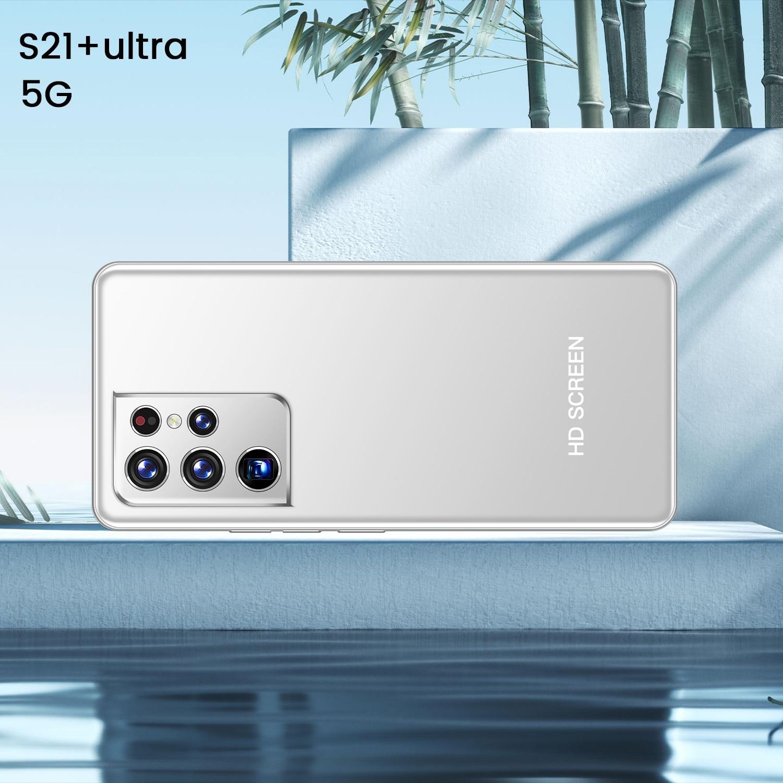 S21 + Ultra رائجة البيع 7.1 بوصة Andriod 10.0 10 Core Mtk6595 الوجه بصمة معرف الوردي الأخضر الأبيض هاتف محمول 1440 + 3040 الهواتف الذكية