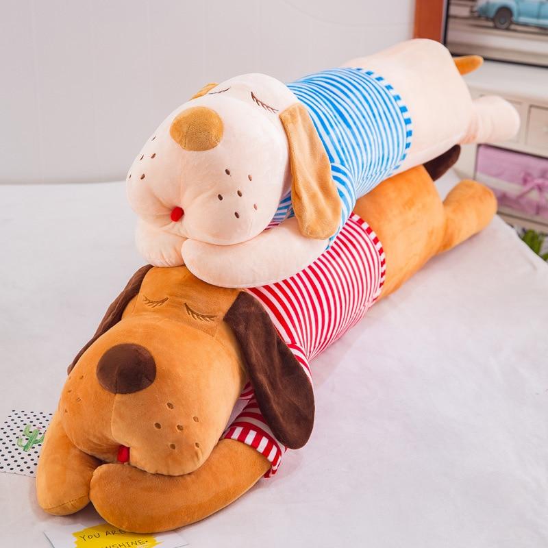 holiday gift plush toy barto duck dog lula ellie elephant doll Long Dog Pillow Soft Plush Doll Toy Birthday Holiday Christmas Gift For Kids