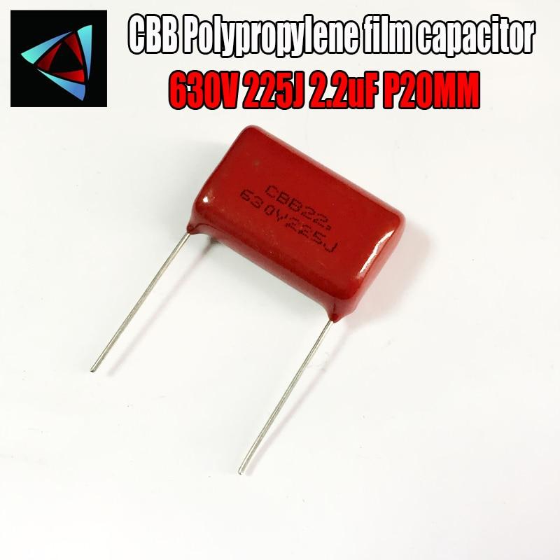 630V 225J 2,2 uF P20 condensador de película de polipropileno paso 20mm
