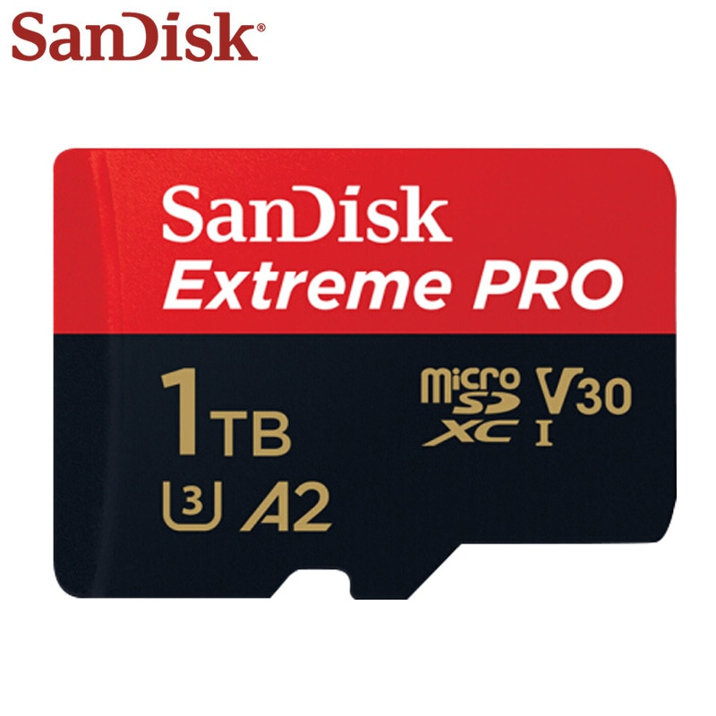 بطاقة ذاكرة ميكرو اس دي من سان ديسك 512 جيجا بايت 1 تيرا بايت اكستريم برو U3 V30 A2 بطاقة ذاكرة فلاش بطاقة ذاكرة أقصى سرعة تصل إلى 170 برميل/الثانية TF ...
