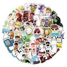 Pegatinas de sueño Smp para maleta, calcomanías impermeables de dibujos animados de Anime, grafiti, 10/50 Uds.