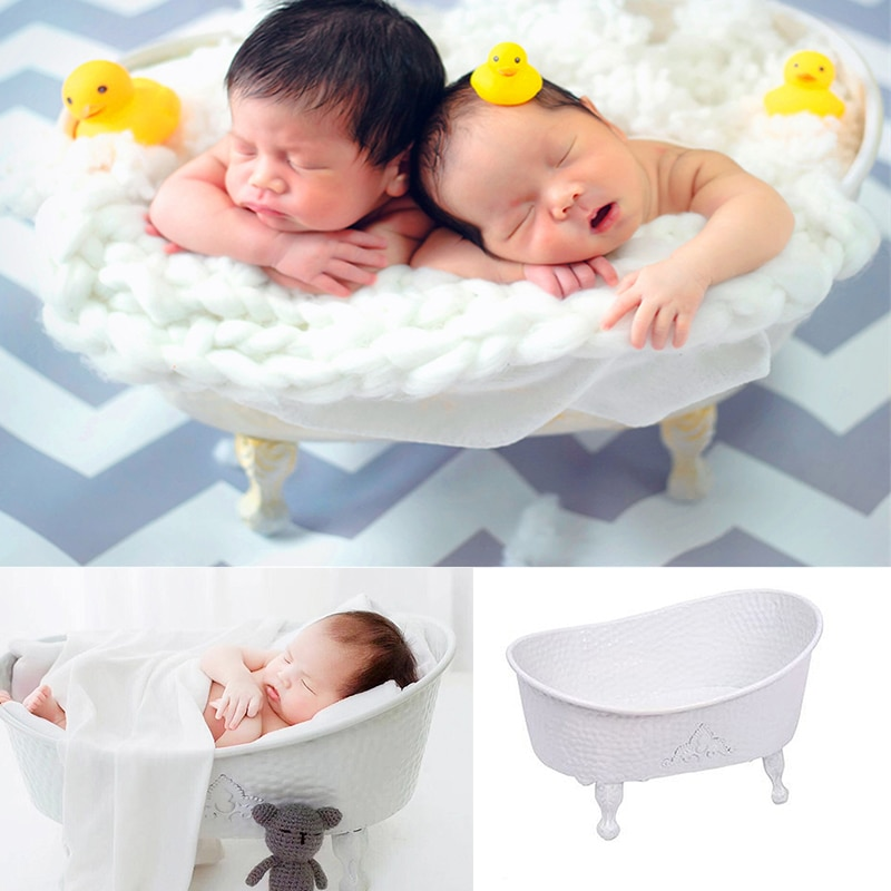 Newborn Photography Props Baby Shower Bathtub Infant Photo Studio Posing Basket Baby Photo Props Creative Accessories
