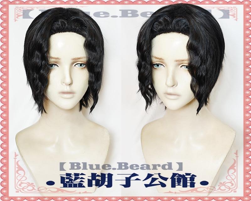 Anime demonio Cazavampiros Kimetsu No Yaiba Kibutsuji Muzan Cosplay pelucas pelo negro peluca Cosplay Accesorios de Halloween