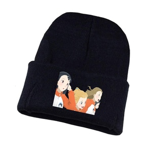 Anime a Place Further Than the Universe Knitted Hat Hat Unisex Print Adult Casual Cotton Hat Teenagers Winter Knitted Cap