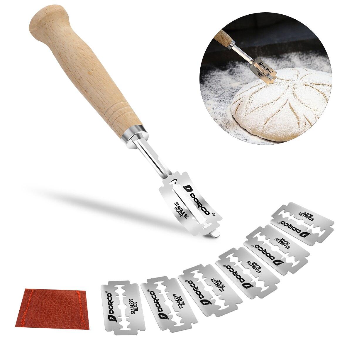 Klingen Brot Cutter Für Hieb Scoring Edelstahl Brot Teig Premium Hand Gefertigt Brot Mit 6 Klingen Teig Scoring Werkzeug