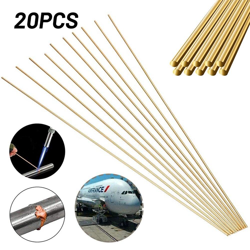20pcs Brass Welding Wire Brazing Rods With Low Temperature Welding Rod 1.6*250mm Welding Equipment Accessories Rod Power Tool