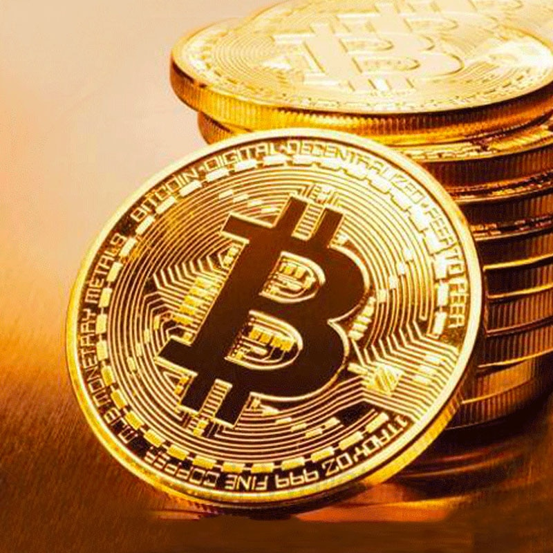 BITCoin Art Collection Gold Plated Physical Bitcoins Bitcoin BTC with Case Gift Physical Metal Antique Imitation Silver Coins