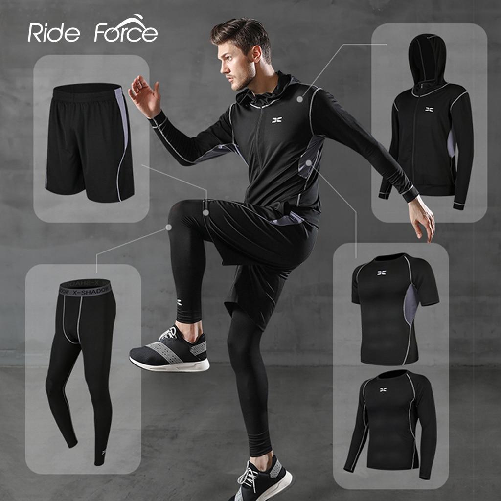 5 قطعة/المجموعة الرجال رياضية رياضة اللياقة البدنية ضغط الرياضة دعوى الملابس تشغيل الركض الرياضة ارتداء ممارسة ملابس محكمة للتمرين