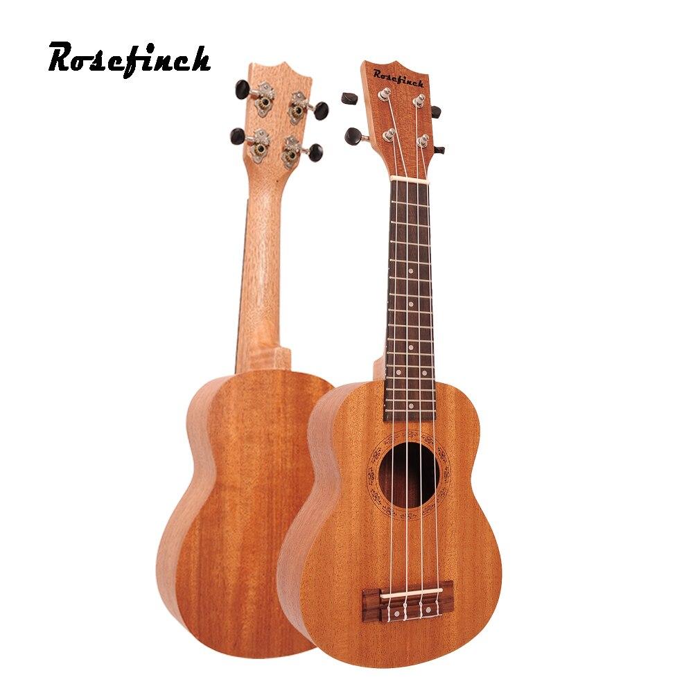 תפוחית 23 אינץ סופרן יוקולילי גיטרה מהגוני Sapele עץ Rosewood 4 מיתרים הוואי מיני גיטרה למתחילים UK301