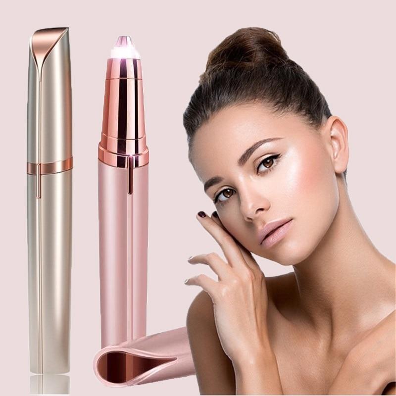 New Style Electric Eyebrow Trimmer Makeup Painless Eye Brow Epilator Shaver Razors Portable Facial H