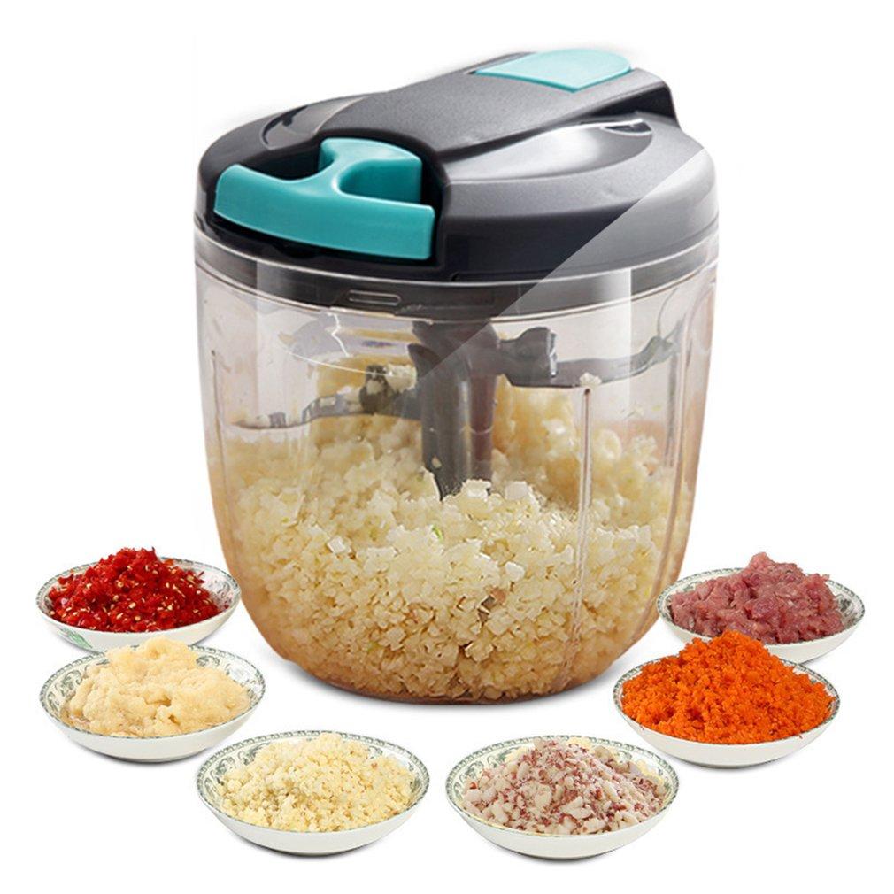 900ML Multifunction Meat Grinder Vegetable Chopper Garlic Masher Hand Mincer Seasonings Nuts Ice Mincer Cooking Kitchen Tools