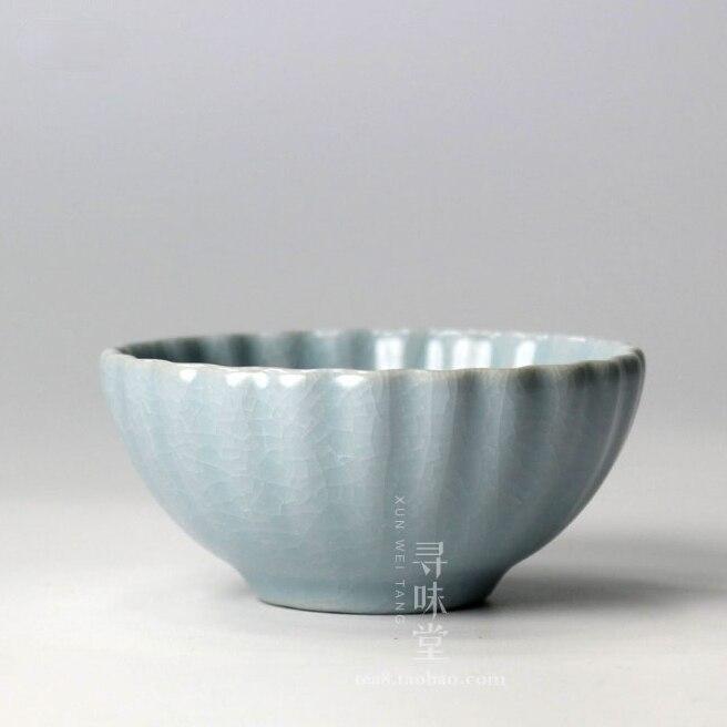 السيراميك خمر فنجان شاي السفر الأزرق الفاخرة الصينية الكونغ فو فنجان شاي حفل المحمولة هدية Tazze دا الشاي المنتجات المنزلية DG50TC