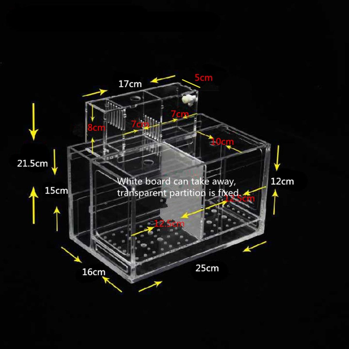 Transparent Acrylic Aquarium Baby Betta Fish Tank Desktop Aquarium Filter Breeding Box Hatchery Isolation Aquatic Pet Supplies