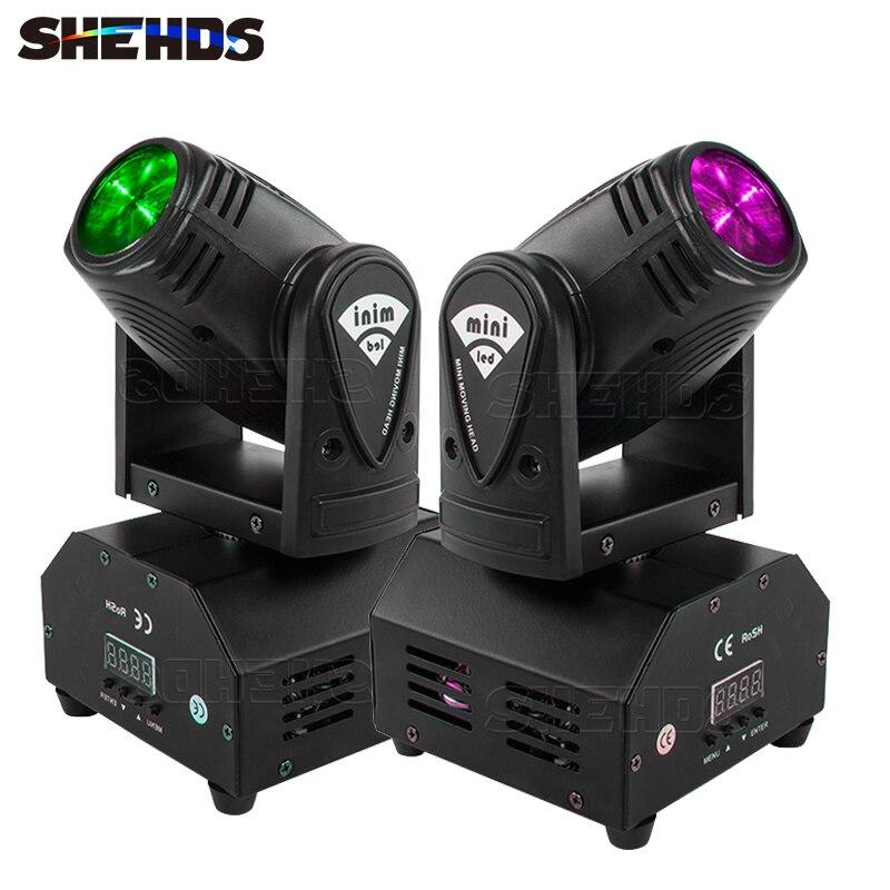 SHEHDS 4 قطعة شحن سريع 10 واط RGBW شعاع صغير Led تتحرك رئيس ضوء DJ بار الحفل المهنية المرحلة المعدات