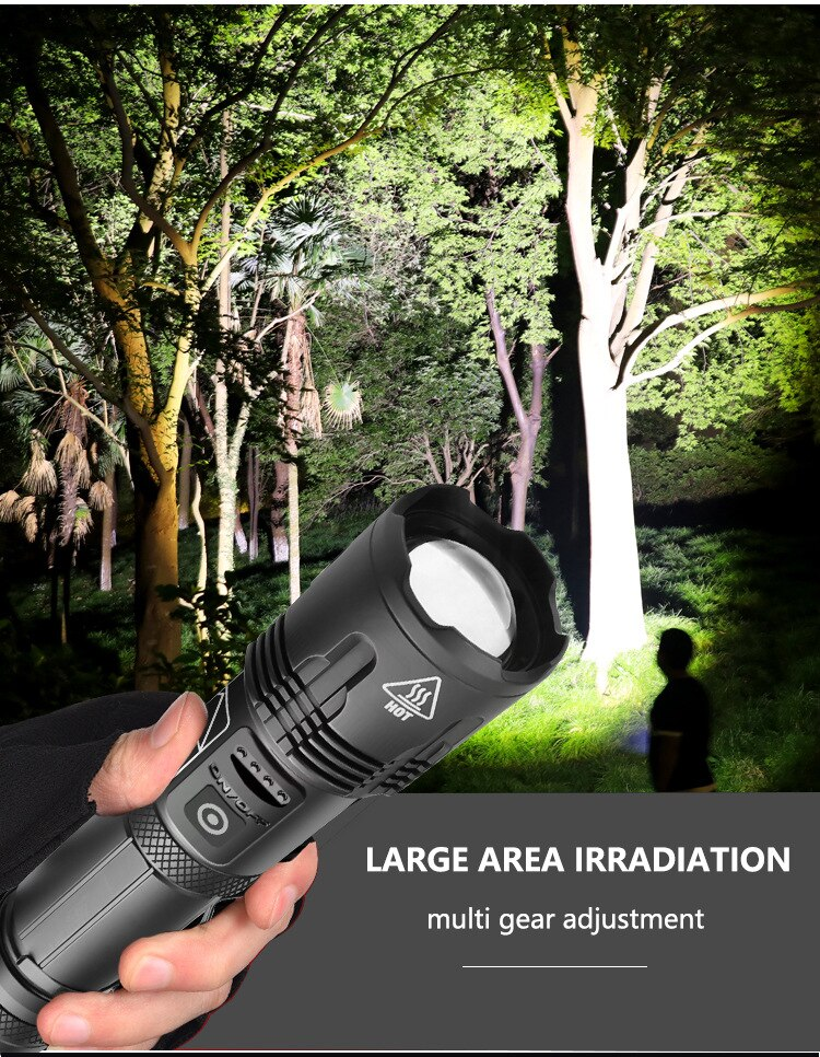 Camping Outdoor Flashlight Waterproof Adjustable Focus Flashlight Powerful Aluminum Alloy Linternas Portable Lighting BK50SD enlarge