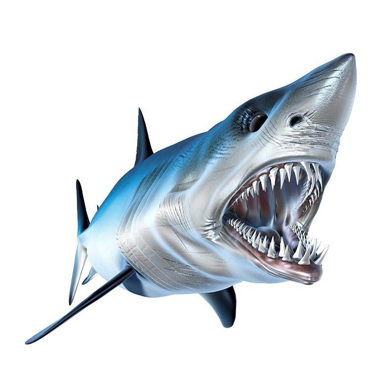 Креативная рыба, 3D Акула, автомобильные наклейки, аксессуары, виниловые автомобильные окна, Стайлинг автомобиля, декоративные водонепрониц...