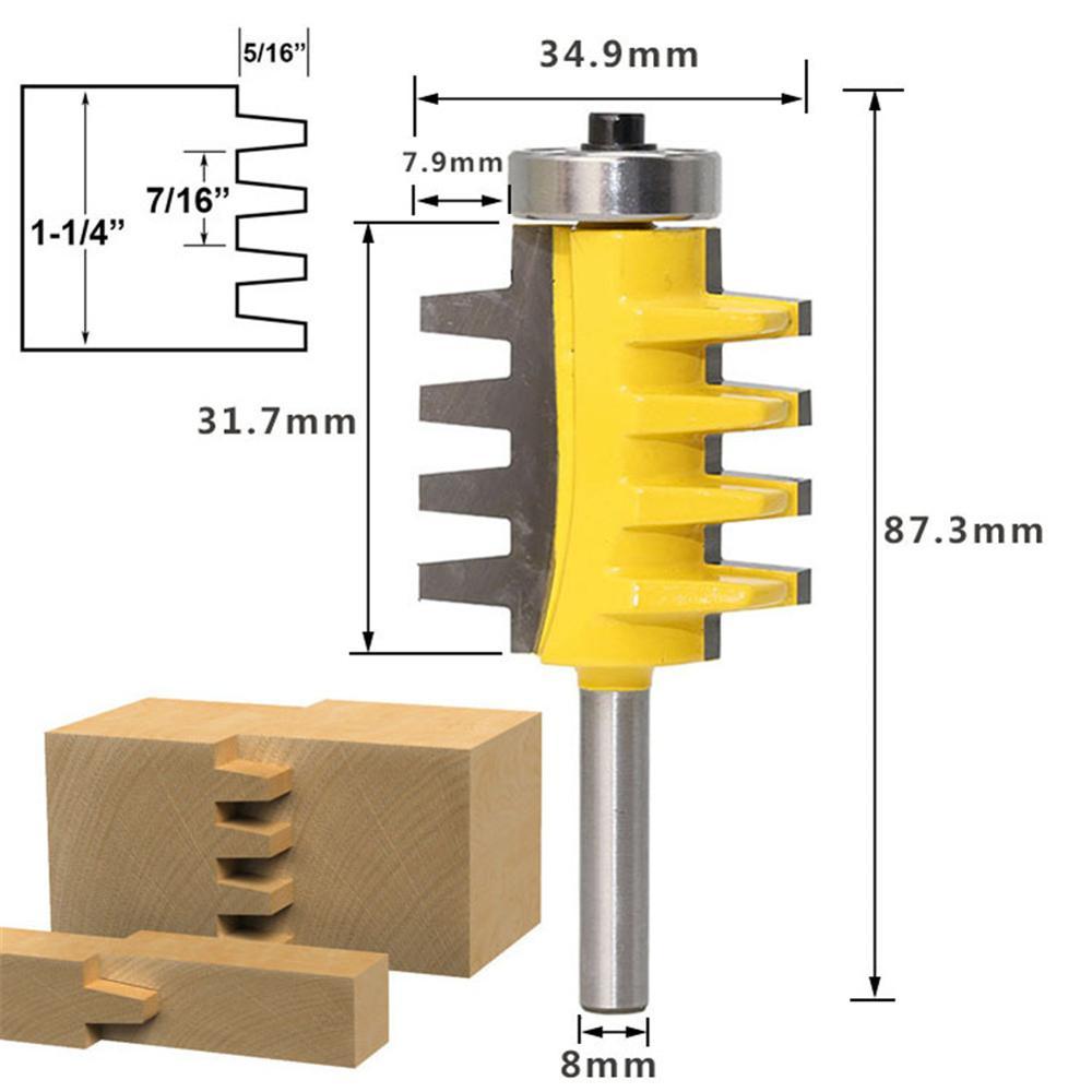 8 lidar com alta qualidade chanfro engrenagem espátula facas roteador bit cortador de madeira ferramentas elétricas cimentado carboneto fresa