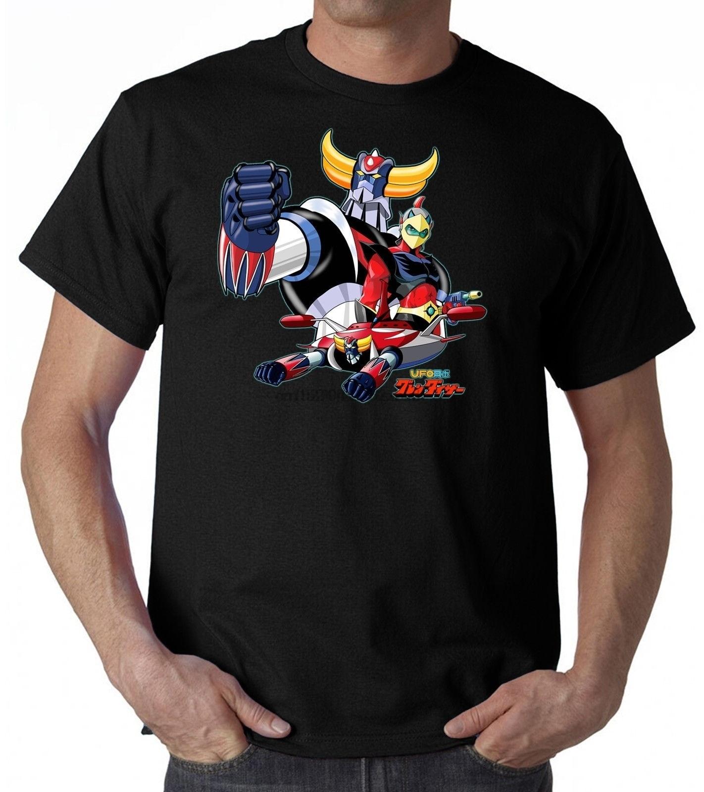 Men Goldrake Ufo Robot T Shirt Uomo Bimbo Cartoon Anni 80 Anime Printed T-Shirt 2019 Fashion Brand Top Tee Plus Size