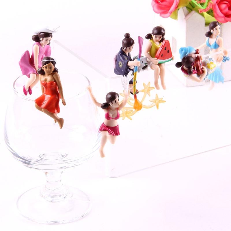 7pcs/set Cup No Fuchiko Figure Kitan Club Kitan Club Action Figure Cup Decoration Dolls PVC Collectible Model Toys