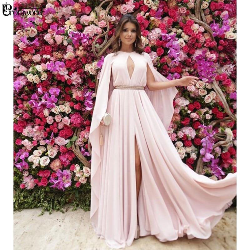 Elegante vestido de noche de marfil, vestido de fiesta con abertura frontal de gasa Dubai árabe saudí musulmán, vestidos de noche largos abiye gece elbisesi