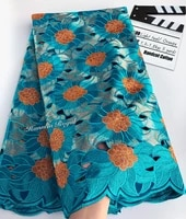 5 yards heavy handcut lace cotton holed african swiss voile lace fabric with stones beautiful nigerian sewing clothes