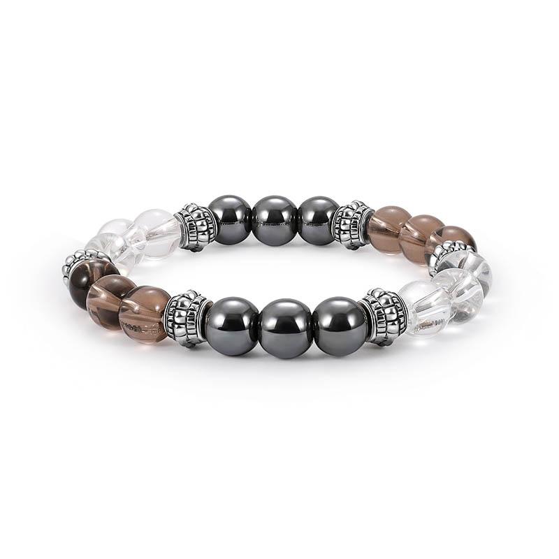 Cool Magnetic Bracelet Beads Hematite Stone Therapy Health Care Magnet Hematite Beads Bracelet Slimm